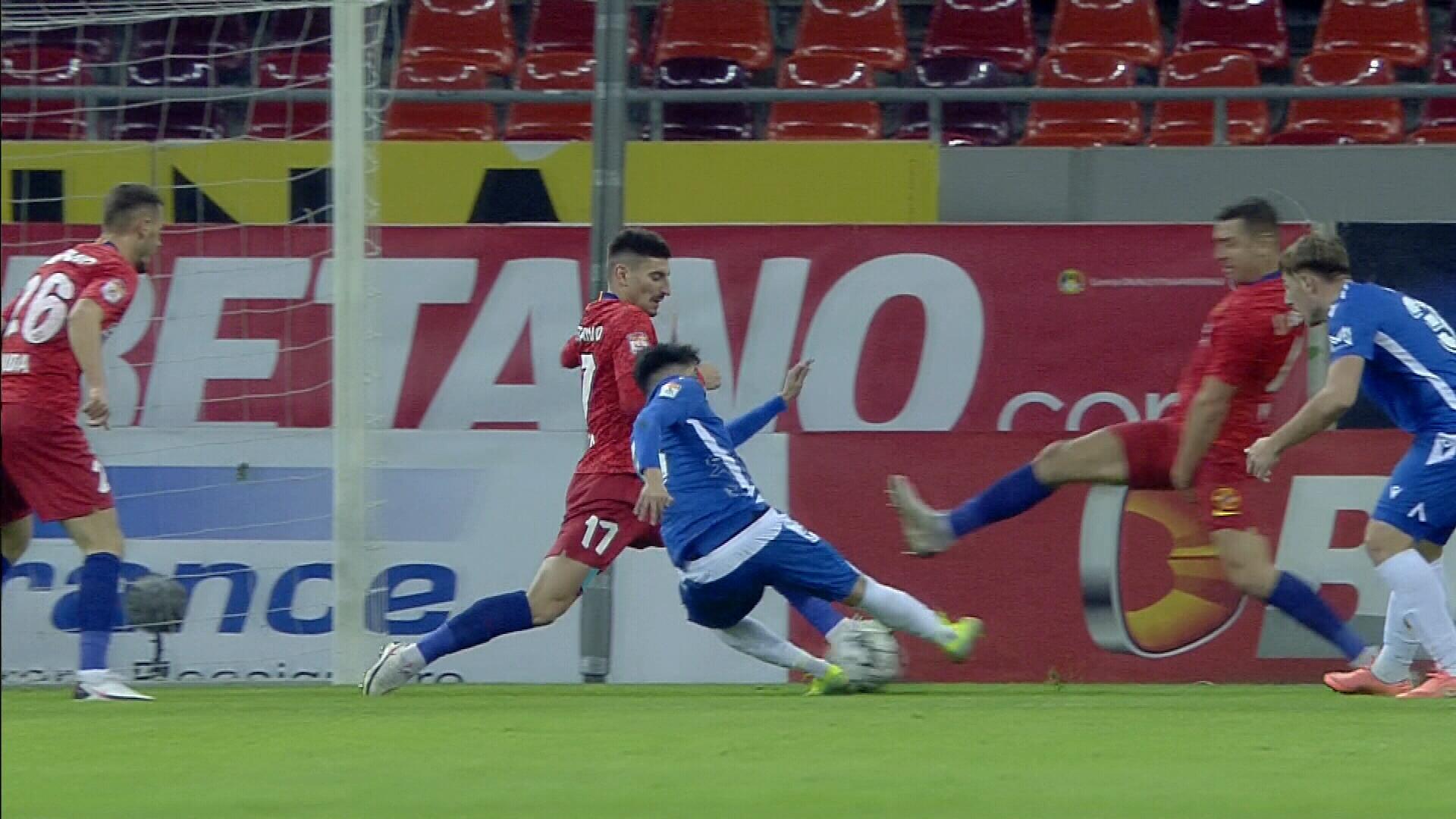 FCSB - FC Voluntari 0-0, ACUM, Digi Sport 1. Ilfovenii au prima ocazie și cer penalty