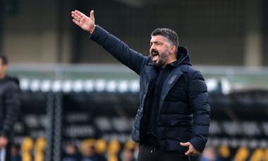 Gennaro Gattuso, antrenorul lui Napoli, în meciul cu Verona / Foto: Profimedia