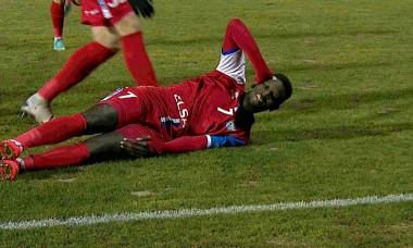Hamidou Keyta a deschis scorul în Botoșani - Dinamo / Foto: Captură Digi Sport