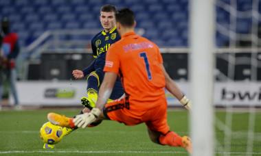 Valentin Mihăilă, la faza în care a marcat pentru Parma în meciul cu Lazio / Foto: Profimedia