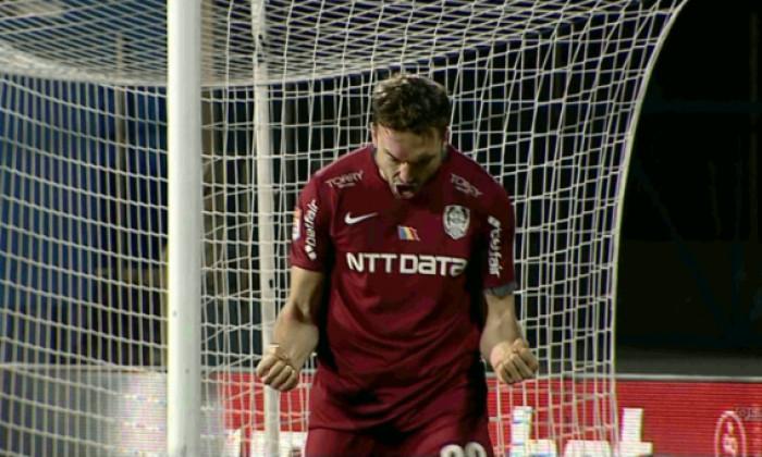 Gabriel Debeljuh a marcat pentru CFR cu Hermannstadt / Foto: Captură Digi Sport