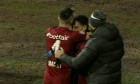 Bucuria celor de la CFR Cluj, după golul marcat de Mario Rondon cu Hermannstadt / Foto: Captură Digi Sport