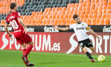 Valencia Vs Osasuna in Valencia, Spain - 21 Jan 2021.