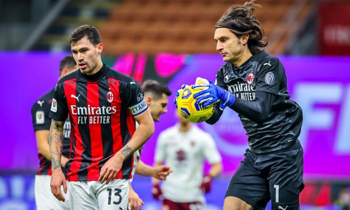AC Milan v Torino FC, Coppa Italia match, Italy - 12 Jan 2021