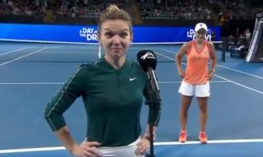 Simona Halep, după meciul cu Ashleigh Barty / Foto: Captură Twitter@TennisChannel