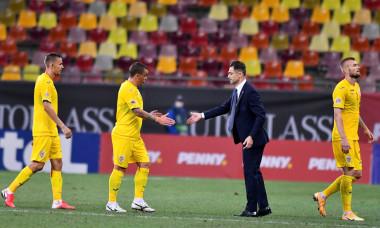 Nicușor Bancu, Dan Nistor, Mirel Rădoi și Alex Crețu, după România - Irlanda de Nord 1-1 / Foto: Sport Pictures