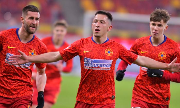Olimpiu Moruțan, după golul marcat în meciul cu Poli Iași / Foto: Sport Pictures
