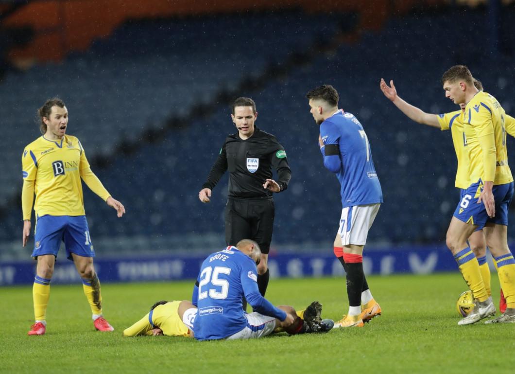 Rangers v St Johnstone, Scottish Premiership, Football, Ibrox Stadium, Glasgow, Scotland, UK - 03 Feb 2021
