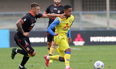 Jonathan Morsay, în tricoul lui Chievo într-un meci cu Catanzaro din Cupa Italiei / Foto: Profimedia