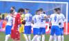 Dan Nistor, alături de coechiperii de la Craiova în meciul cu Dinamo / Foto: Sport Pictures