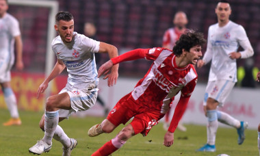 Diego Fabbrini și Răzvan Oaidă, în meciul Dinamo - FCSB din Cupa României / Foto: Sport Pictures