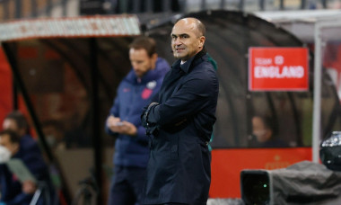 Belgium's head coach Roberto Martinez pictured during the UEFA Nations League League A, Group 2 match at King Power Stadion At Den Dreefts, Leuven, Belgium.