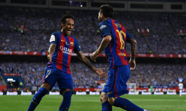 Lionel Messi și Neymar în perioada în care au jucat împreună la Barcelona / Foto: Getty Images