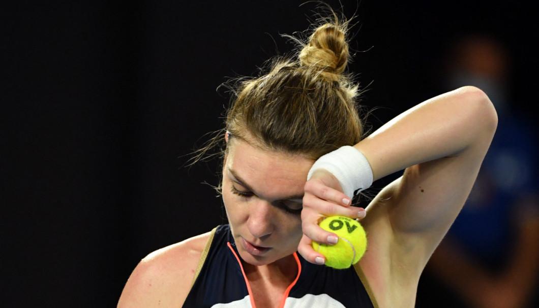 Simona Halep, în timpul meciului cu Serena Williams de la Australian Open / Foto: Profimedia