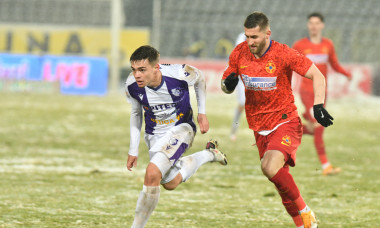 Cristi Dumitru și Ovidiu Popescu, în meciul FC Argeș - FCSB / Foto: Sport Pictures