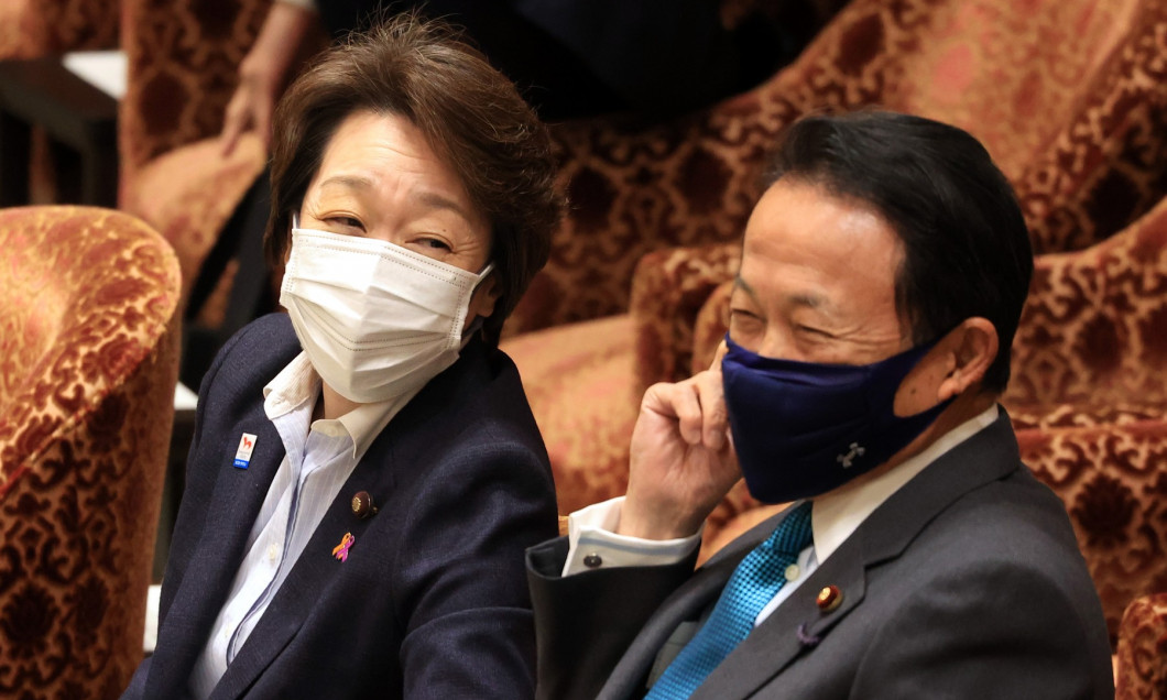 Japanese Olympic Minister Seiko Hashimoto attends Lower House's budget committee session