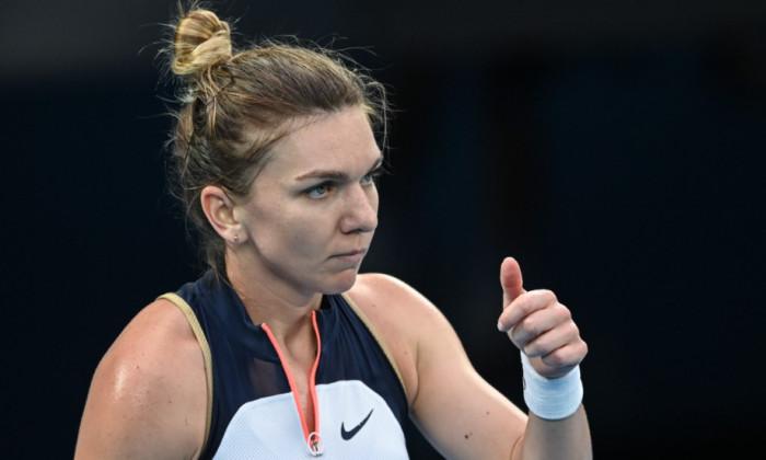 Simona Halep, în meciul cu Serena Williams / Foto: Profimedia