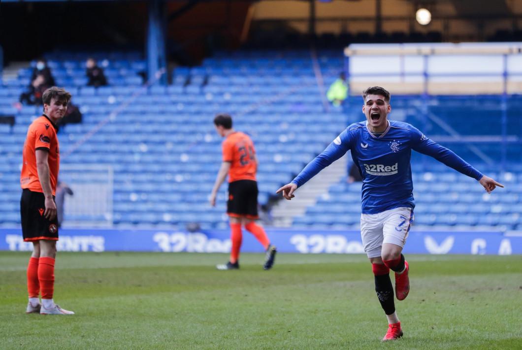 Rangers v Dundee United, Scottish Premiership, Football, Ibrox Stadium, Glasgow, Scotland, UK - 21 Feb 2021