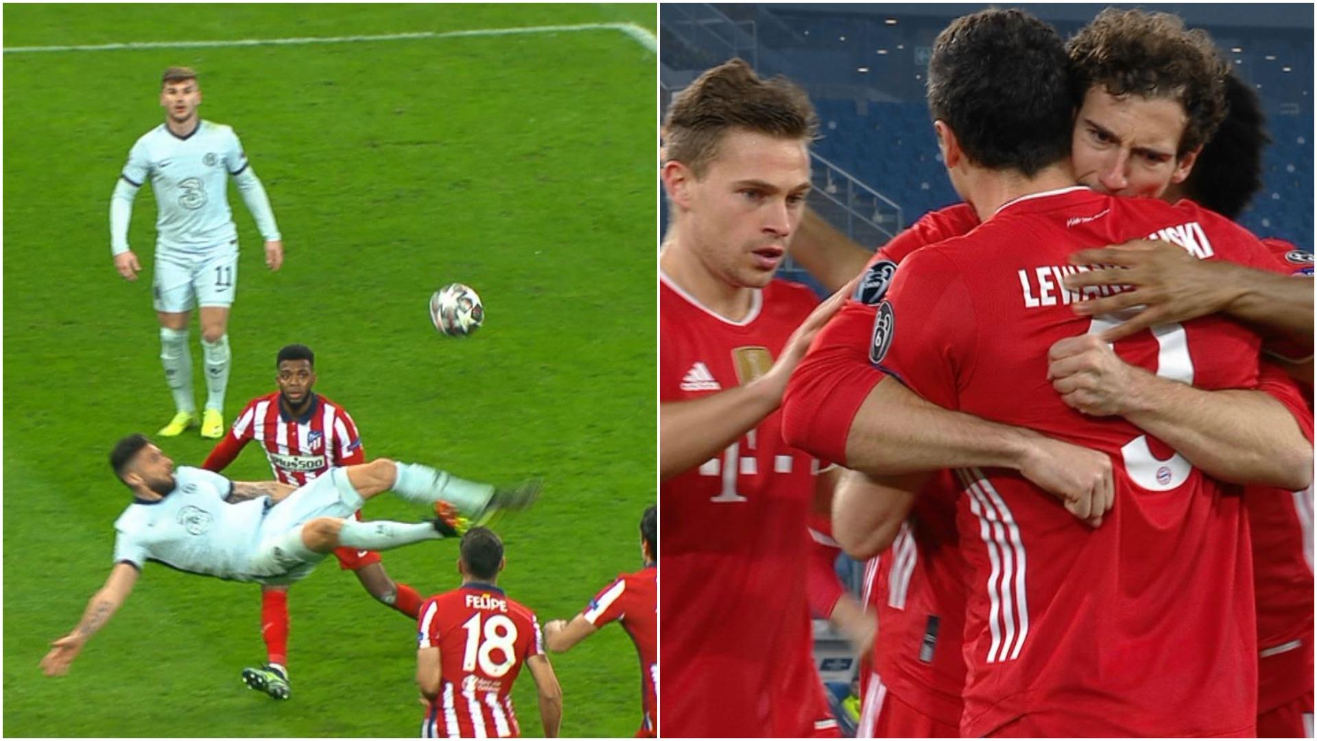 UCL, optimi | Atletico - Chelsea 0-1, pe Arena Națională, după foarfeca lui Giroud şi Lazio - Bayern 1-4. Bavarezii, spectacol total