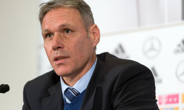 Marco van Basten, FIFA representative regarding technical developments speaks during a FIFA press conference concerning the Video Assistant Referee in Milan, Italy, 14 November 2016. For the first time the ·Video Assistant Referee· (VAR) will be used duri