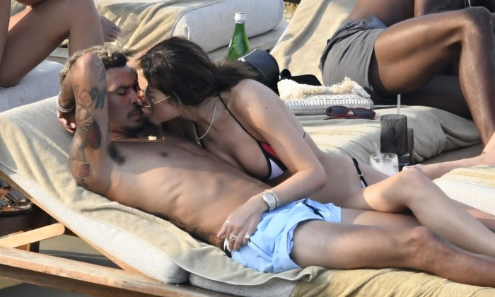 *PREMIUM-EXCLUSIVE* MUST CALL FOR PRICING BEFORE USAGE - England footballer Dele Alli pictured with girlfriend Ruby Mae on their Summer Holiday in Mykonos.*PICTURES TAKEN ON 09/08/2020*