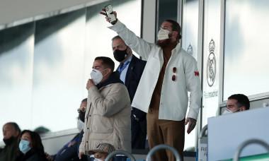 Sergio Ramos, în tribună în timpul meciului Real Madrid - Levante / Foto: Getty Images