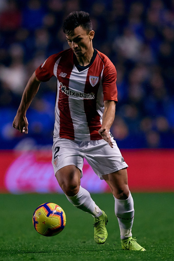 VALENCIA, SPAIN - DECEMBER 03: Cristian Ganea of Athletic Club de Bilbao in action during the La Liga match between Levante UD and Athletic Bilbao at Ciutat de Valencia on December 3, 2018 in Valencia, Spain. (Photo by David Aliaga/MB Media)