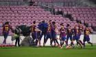 Fotbaliștii Barcelonei, în meciul cu Sevilla / Foto: Getty Images