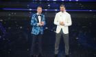 Zlatan Ibrahimovic și Amadeus, la Sanremo / Foto: Profimedia