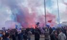 Suporterii lui Rangers, înaintea meciului cu St. Mirren / Foto: Captură Twitter@TheAwayFansVids