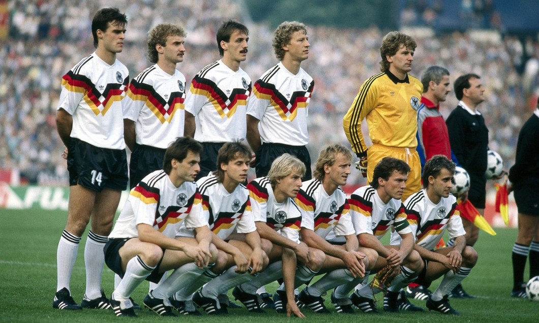Sport / Sports, soccer, football, European championship, EURO 1988, Germany against Italy (1:1) in Düsseldorf, 10.6.1988, team p