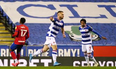 George Pușcaș, după golul marcat pentru Reading în meciul cu Blackburn / Foto: Profimedia
