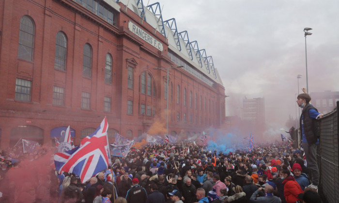 Rangers Title Celebrations, Scottish Premiership, Glasgow, Scotland, UK - 07 Mar 2021