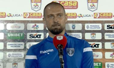 Gabi Tamaș, fundașul lui FC Voluntari / Foto: Captură Digi Sport