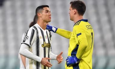 Cristiano Ronaldo și Wojciech Szczesny, în meciul Juventus - Porto / Foto: Getty Images