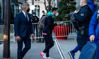 Arrivée des joueurs du FC Barcelone ŕ l'hôtel Pullman Tour Eiffel ŕ Paris
