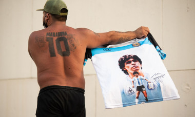 Mobilization demanding Justice for the death of Maradona in Buenos Aires, Argentina - 10 Mar 2021