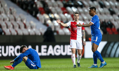 Slavia Prague v Rangers, UEFA Europa League Round of 16 1st Leg, Football, Sinobo Stadium, Prague, Czech Republic - 11 Mar 2021