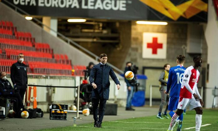 Steven Gerrard, antrenorul lui Rangers, în meciul cu Slavia Praga / Foto: Profimedia