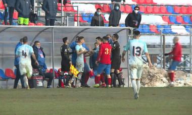 Fotbaliștii de la CSA Steaua și FCSB au avut un conflict la finalul meciului / Foto: Captură Digi Sport
