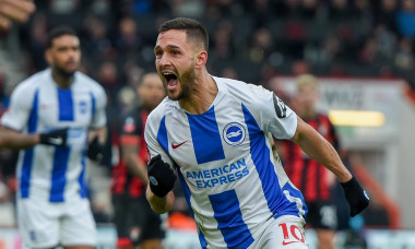 5th January 2019, Dean Court, Bournemouth, England; The Emirates FA Cup, 3rd Round, Bournemouth vs Brighton ; Florin Andone (10) of Brighton celebrates scoring to make it 1-3 Credit: Phil Westlake/News Images English Football League images are subject