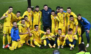 Fotbaliștii naționalei României, după obținerea calificării la Euro / Foto: Sport Pictures