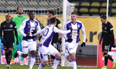 Fotbaliștii de la FC Argeș, în meciul cu Viitorul, câștigat 1-0 / Foto: Sport Pictures