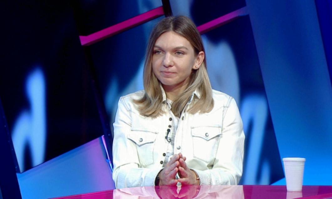 Simona Halep, la emisiunea Așii Tenisului / Foto: Captură Digi Sport