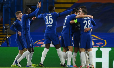 Fotbaliștii lui Chelsea, în meciul cu Atletico Madrid / Foto: Getty Images
