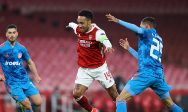 Pierre-Emerick Aubameyang, în meciul Arsenal - Olympiakos / Foto: Getty Images