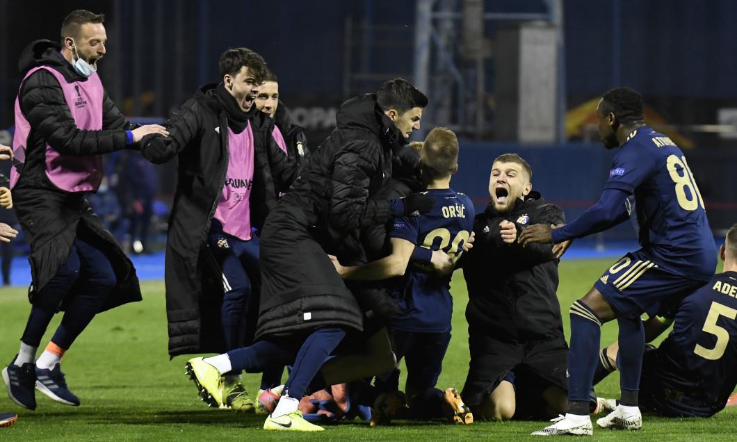 Fotbaliștii lui Dinamo Zagreb, în meciul cu Tottenham / Foto: Getty Images