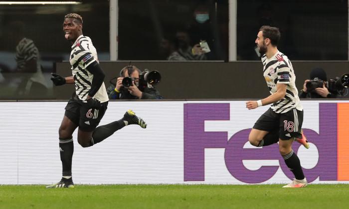 Paul Pogba, după golul marcat cu AC Milan / Foto: Getty Images