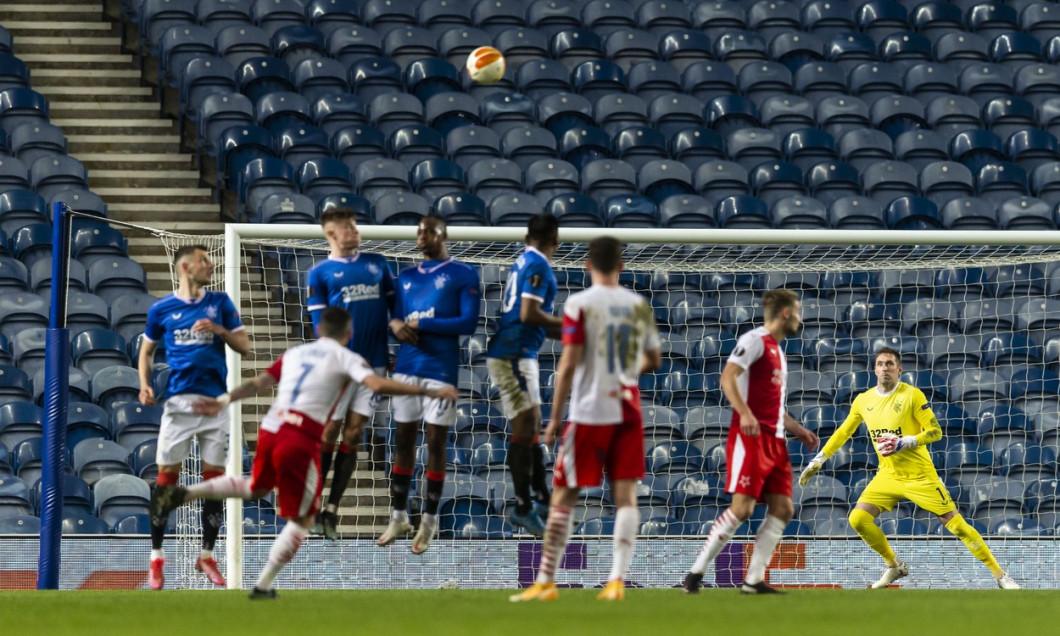 Rangers v Slavia Prague, UEFA Europa League, Round Of 16, Second Leg, Football, Ibrox Stadium, Glasgow, UK - 18 Mar 2021