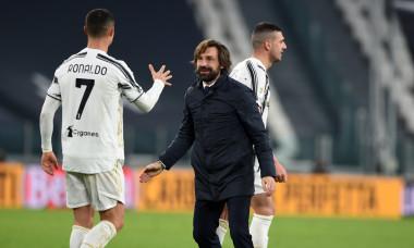 Andrea Pirlo și Cristiano Ronaldo, după Juventus - Inter / Foto: Getty Images